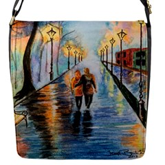 Just The Two Of Us Flap Closure Messenger Bag (Small)