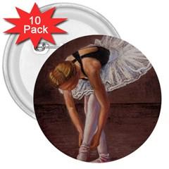 Ballerina 3  Button (10 Pack)
