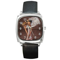 Ballerina Square Leather Watch