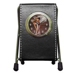 Ballerina Stationery Holder Clock