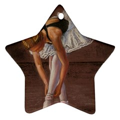 Ballerina Star Ornament (two Sides)
