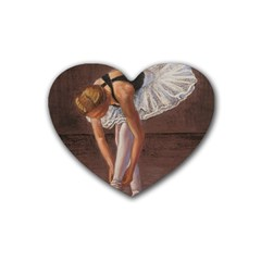 Ballerina Drink Coasters 4 Pack (Heart)