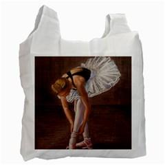 Ballerina White Reusable Bag (One Side)