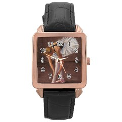 Ballerina Rose Gold Leather Watch