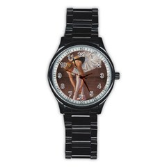 Ballerina Sport Metal Watch (Black)
