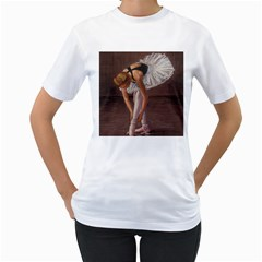 Ballerina Women s T Shirt (white)