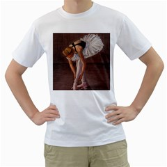 Ballerina Men s T-Shirt (White)