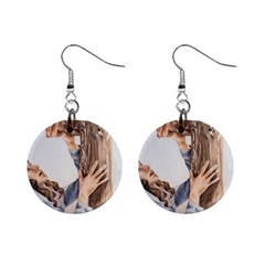 Stabat Mater Mini Button Earrings