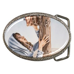 Stabat Mater Belt Buckle (Oval)