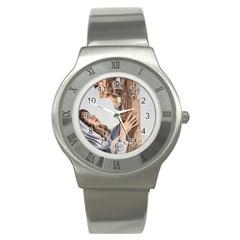 Stabat Mater Stainless Steel Watch (slim)