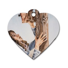 Stabat Mater Dog Tag Heart (One Sided)