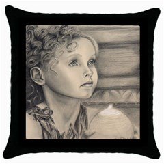 Light1 Black Throw Pillow Case