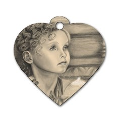 Light1 Dog Tag Heart (One Sided)