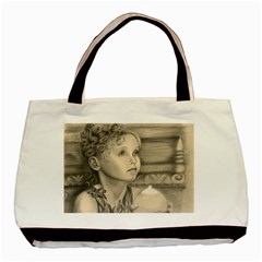Light1 Twin-sided Black Tote Bag