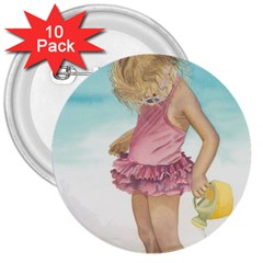 Beach Play Sm 3  Button (10 pack)