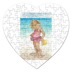 Beach Play Sm Jigsaw Puzzle (Heart)