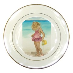 Beach Play Sm Porcelain Display Plate