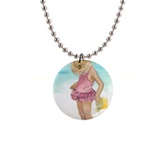 Beach Play Sm Button Necklace