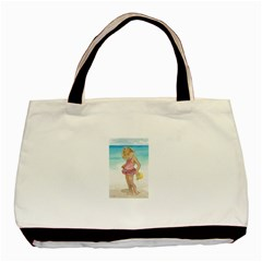 Beach Play Sm Twin-sided Black Tote Bag