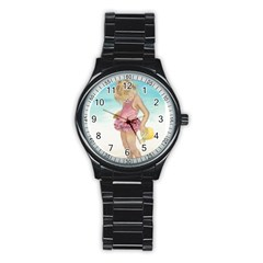 Beach Play Sm Sport Metal Watch (Black)