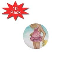 Beach Play Sm 1  Mini Button (10 pack)