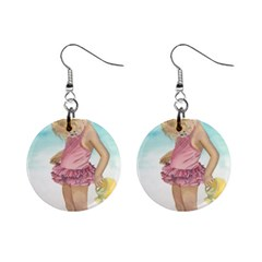 Beach Play Sm Mini Button Earrings