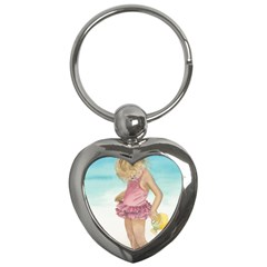 Beach Play Sm Key Chain (Heart)