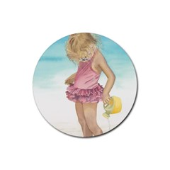 Beach Play Sm Drink Coasters 4 Pack (Round)