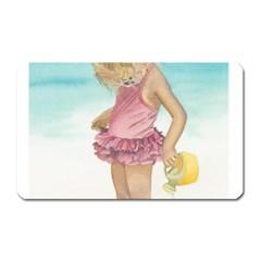 Beach Play Sm Magnet (rectangular)