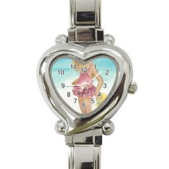 Beach Play Sm Heart Italian Charm Watch