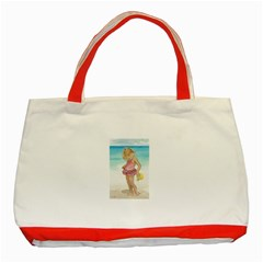 Beach Play Sm Classic Tote Bag (Red)