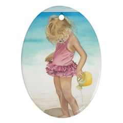 Beach Play Sm Oval Ornament (Two Sides)