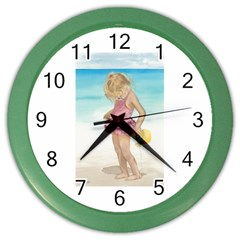 Beach Play Sm Wall Clock (color)
