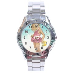 Beach Play Sm Stainless Steel Watch