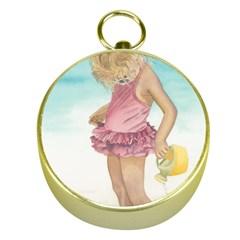 Beach Play Sm Gold Compass
