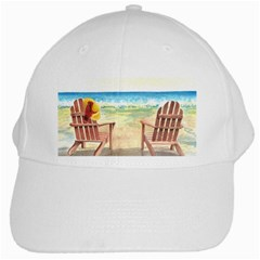 Time To Relax White Baseball Cap
