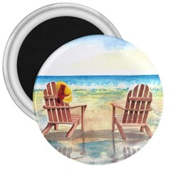 Time To Relax 3  Button Magnet