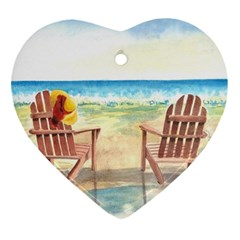 Time To Relax Heart Ornament