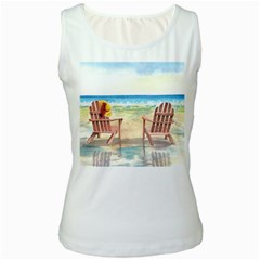 Time To Relax Women s Tank Top (White)