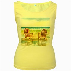 Time To Relax Women s Tank Top (Yellow)