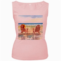 Time To Relax Women s Tank Top (Pink)