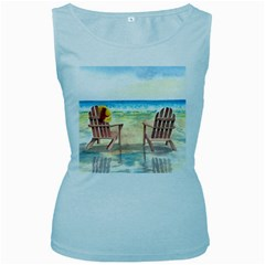 Time To Relax Women s Tank Top (Baby Blue)