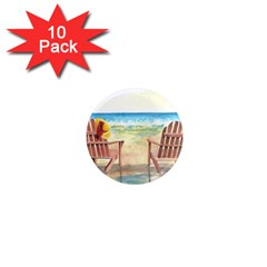 Time To Relax 1  Mini Button Magnet (10 pack)