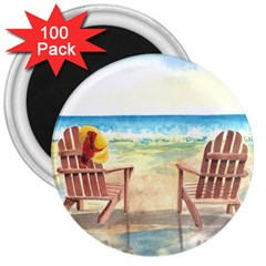 Time To Relax 3  Button Magnet (100 Pack)
