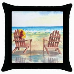 Time To Relax Black Throw Pillow Case
