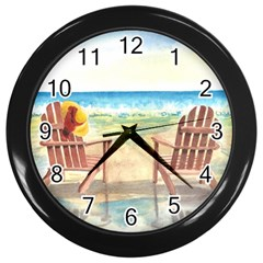 Time To Relax Wall Clock (Black)