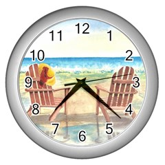 Time To Relax Wall Clock (silver)