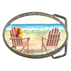 Time To Relax Belt Buckle (Oval)