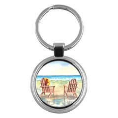 Time To Relax Key Chain (round)
