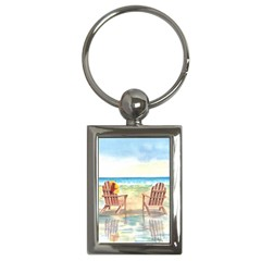 Time To Relax Key Chain (rectangle)